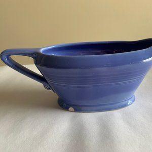 Vintage Harlequin Homer Laughlin Gravy Boat Blue